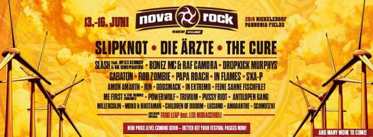 Nova Rock 2019 - Line Up