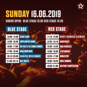 Nova Rock 2019 - Timetable (c) Barracuda Music